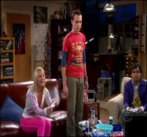 Big Bang Theory scene, playing Halo