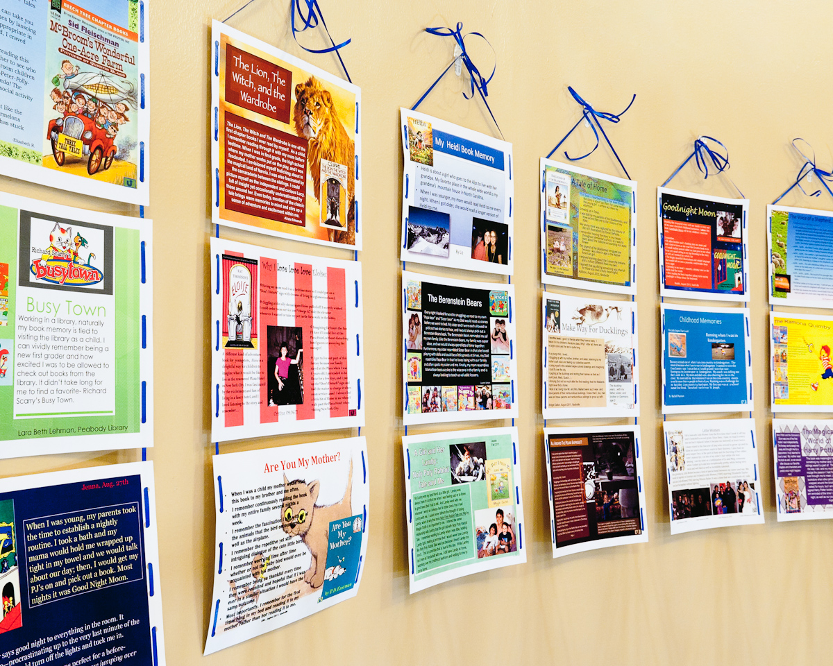 Classroom Design Literature Review ~ When we were young a book memories project literacy beat