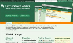 screenshot of Science Writer