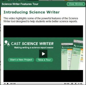screenshot of Science Writer video