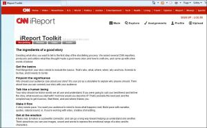 screenshot of CNN.com iReport Toolkit