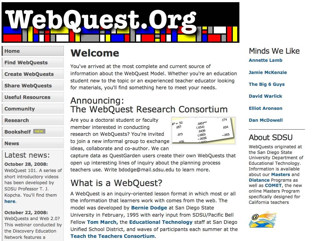 webquest for ccss literacy beat