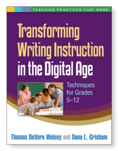 "book cover of""Transforming Writing Instruction in the Digital Age"""