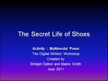 Multimodal Shoe Poems and Digital Writers Workshop (1/6)