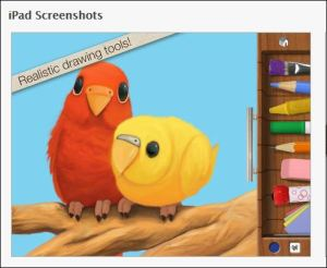 screenshot of Drawing Pad tools