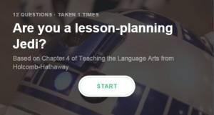 Lesson planning Jedi